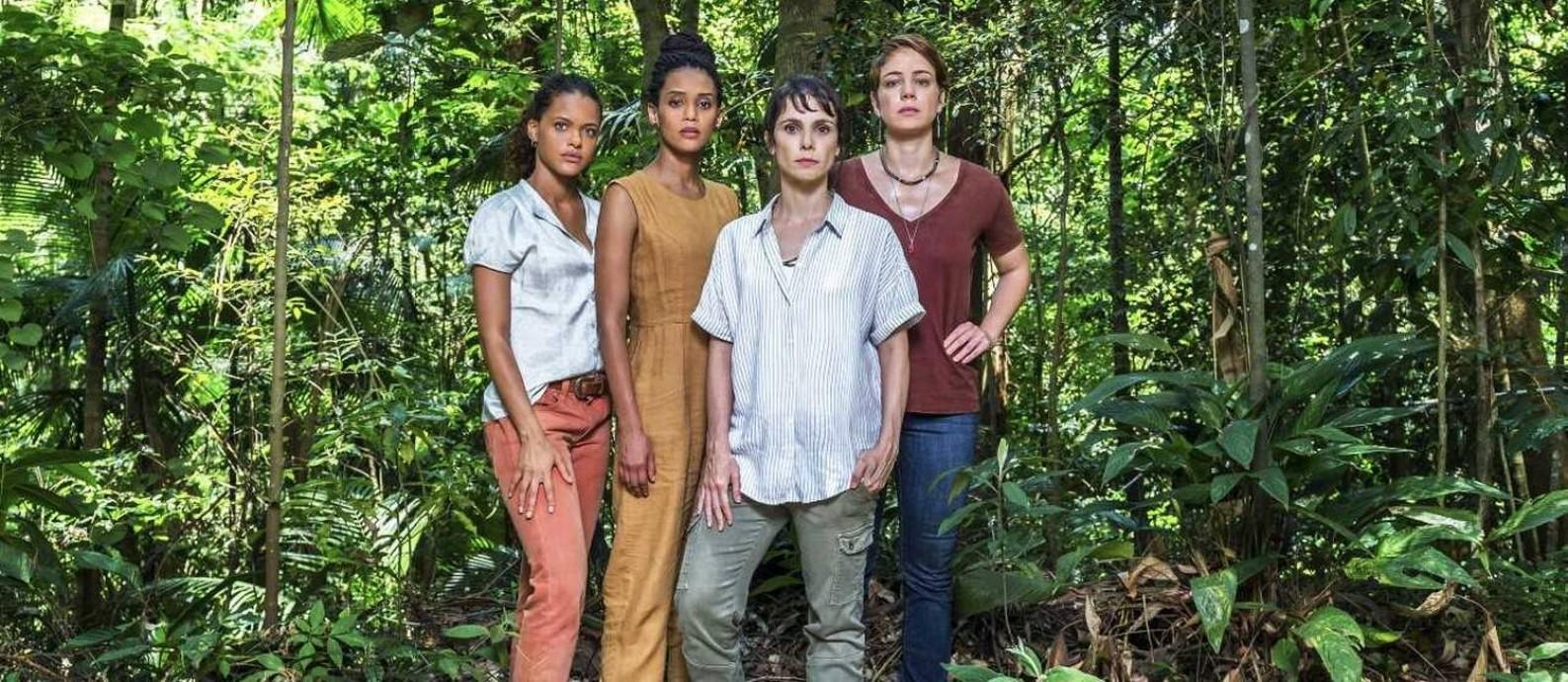 Clara (Thainá Duarte), Verônica (Taís Araújo), Natalie (Débora Falabella) e Luíza (Leandra Leal) Foto: Divulgação