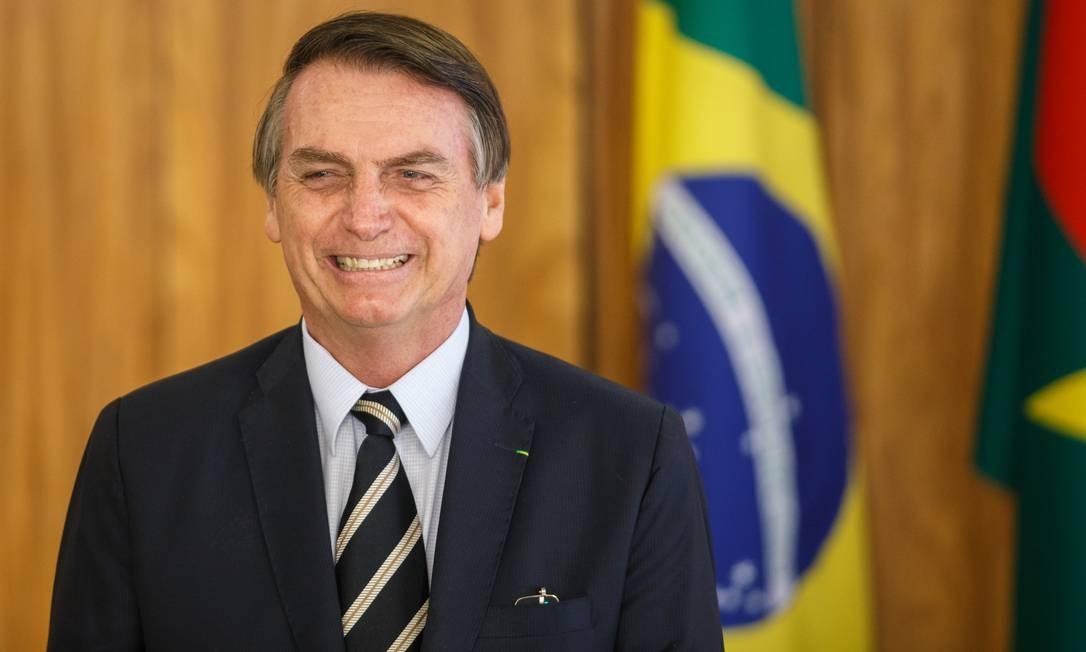 O presidente participa da cerimônia no Palácio do Planalto Foto: Daniel Marenco / Agência O Globo