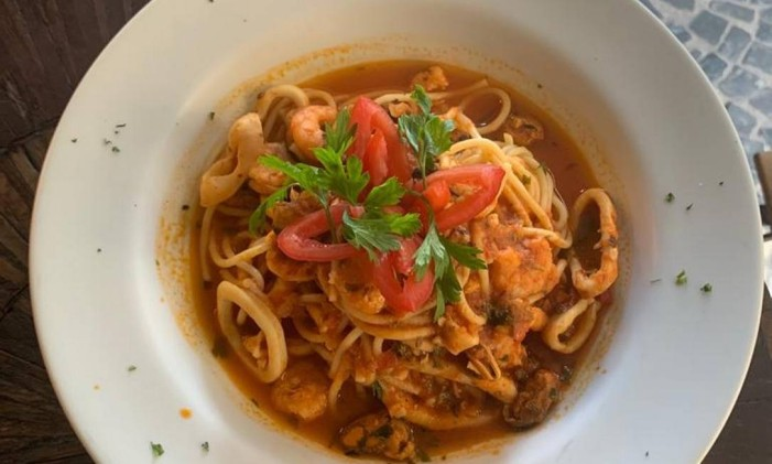 LF Café: espaguete de frutos do mar Foto: Divulgação