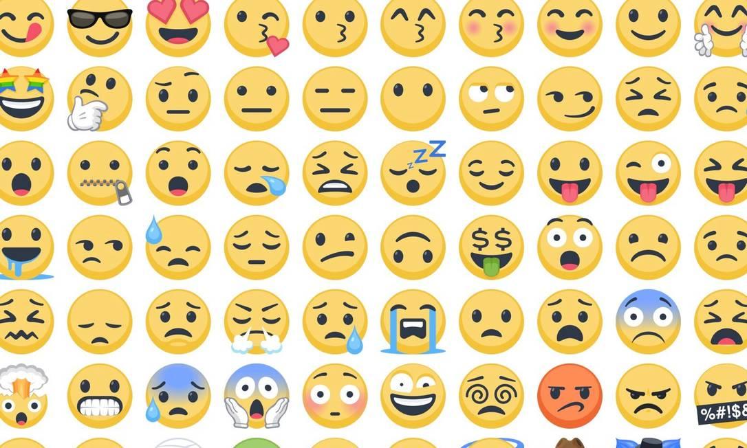 Exemplos de emojis Foto: Reprodução/Emojipedia