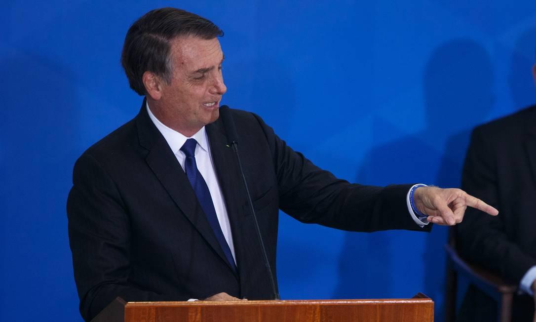 Bolsonaro assina novo decreto que muda as regras para posse e porte de armas Foto: Daniel Marenco / Agência O Globo