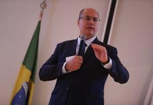 O governador Wilson Witzel Foto: Pedro Teixeira / Agência O Globo