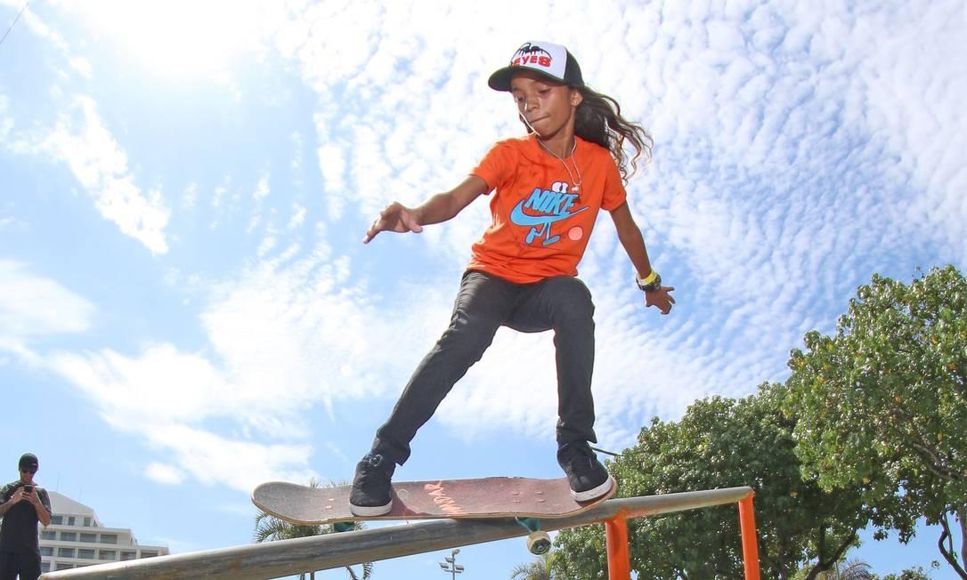 Rayssa Leal, a Fadinha do skate, pode se classificar para as Olimpíadas de Tóquio com 12 anos Foto: Julio Detefon/Divulgação
