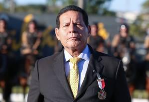 O vice-presidente da República em Exercício, Hamilton Mourão, em solenidade em Curutiba (PR) Foto: Romério Cunha / Vice-Presidência