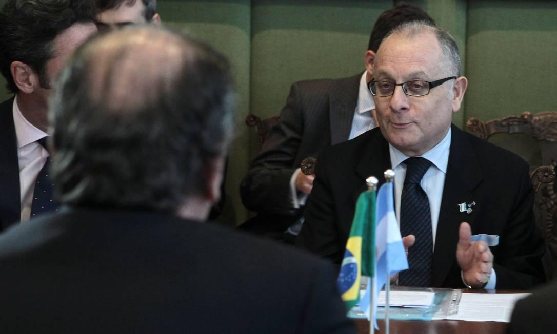 Jorge Faurie, chanceler da Arentina Foto: Jorge William / Agência O Globo