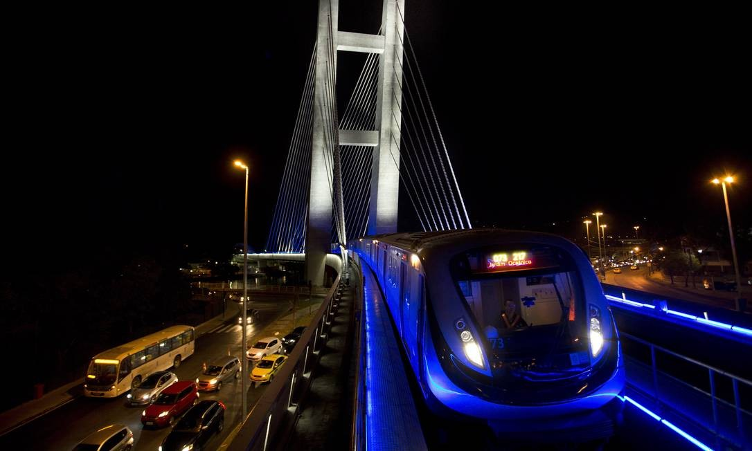 Saída. A Linha 4 do metrô, que liga Ipanema à Barra ad tijuca: um dos ativos dos quais a OAS se desfaz Foto: Guito Moreto / Agência O Globo