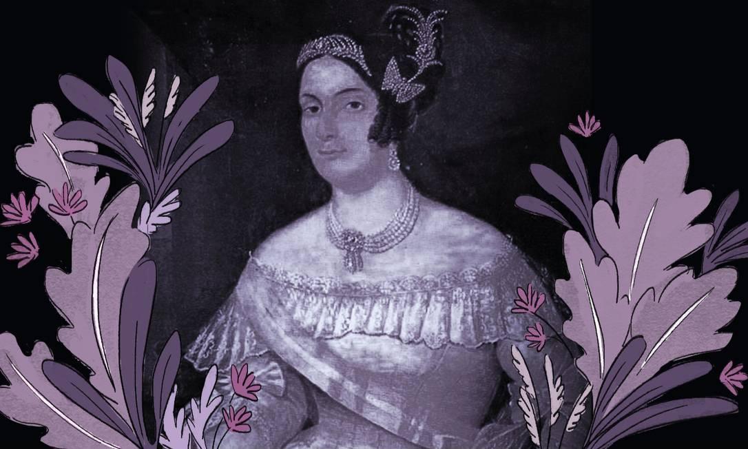 A marquesa de Santos entrou para a História como amante de D. Pedro I e teve sua atuação política apagada Foto: Reprodução