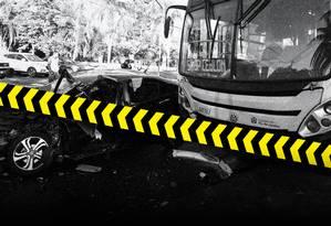 Brasil vive epidemia de mortes no trânsito Foto: Arte