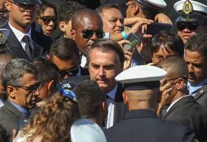 O presidente Jair Bolsonaro participa de formatura de militares no Rio Foto: Marcelo Régua / 07/06/2019