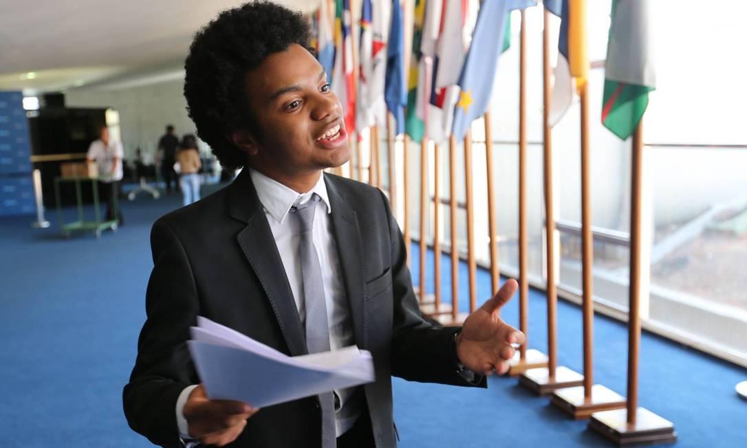 Fernando Holiday, vereador do DEM de São Paulo, que apresentou projetos contra o Dia da Consciência Negra e o direito de aboro Foto: Fábio Rodrigues Pozzebom / Fábio Pozzebom/Agência O Globo