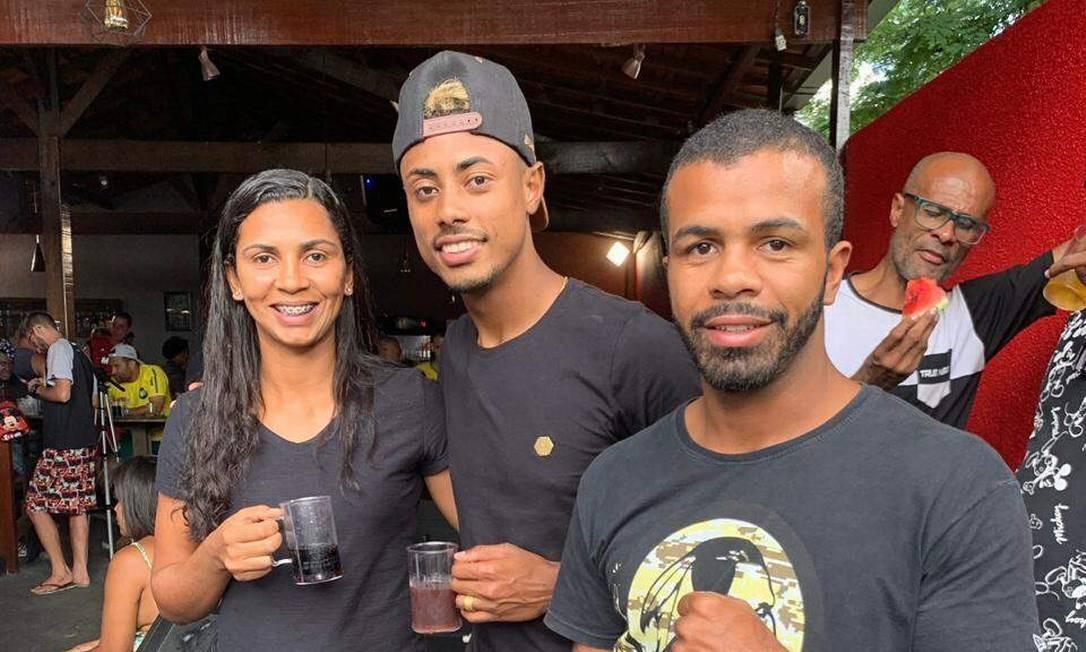 Samhia e Bruno Henrique cresceram juntos em Belo Horizonte Foto: Arquivo Pessoal