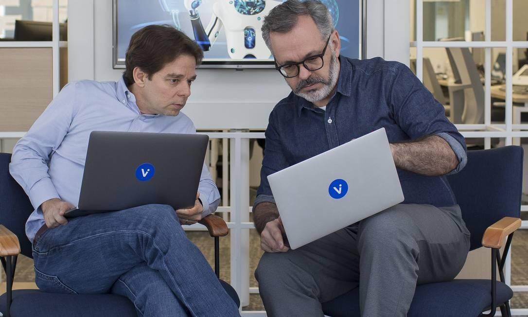 EC São Paulo ( SP ) 28/06/2019 Inteligencia Artificial - Patrick O´Grady e George Wachsmann da Vitreo Gestão de Recursos . Foto: Edilson Dantas / Agencia O Globo Foto: Edilson Dantas / Agência O Globo