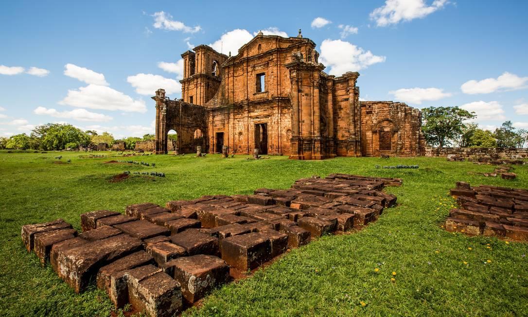 Ruínas de São Miguel das Missões, no Rio Grande do Sul, que em 1983 entraram para a lista de escolhidos pela Unesco como Patrimônio Munidal da Humanidade Foto: Divulgação