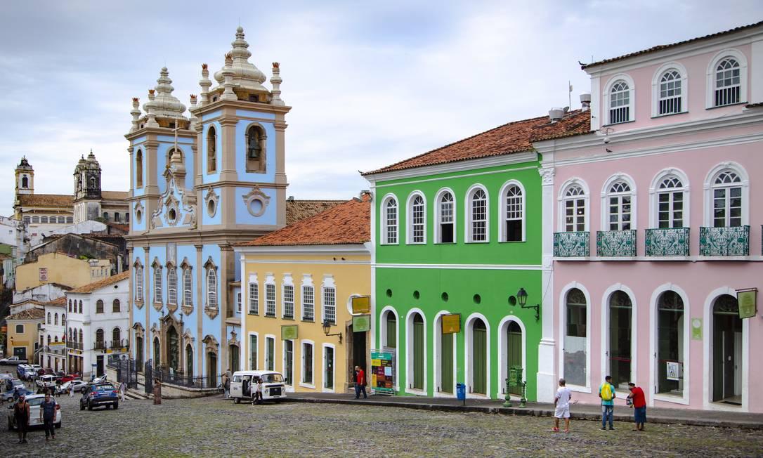 O Centro Histórico de Salvador, na Bahia, possui cerca de três mil edifícios construídos nos séculos XVIII, XIX e XX Foto: Leo Martins / Agência O Globo
