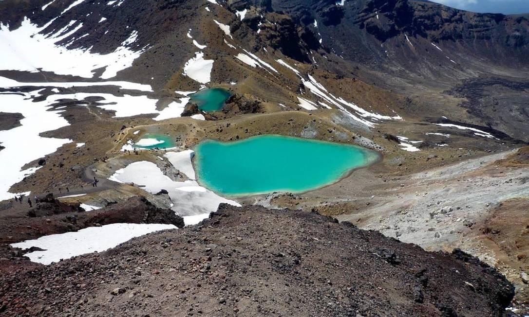 O Parque Nacional de Tongariro, na Nova Zelândia, se tornou a primeira propriedade a ser inscrita como Patrimônio Mundial da Unesco em 1993. As montanhas são o coração do parque, que possui relevância cultural e religiosa para o povo Maori, e simobilizam a ligação espiritual entre a comunidade e o ambiente. O parque possui ainda vulcões ativos e extintos, além de um ecossistema diverso, e paisagens espetaculares Foto: divulgação