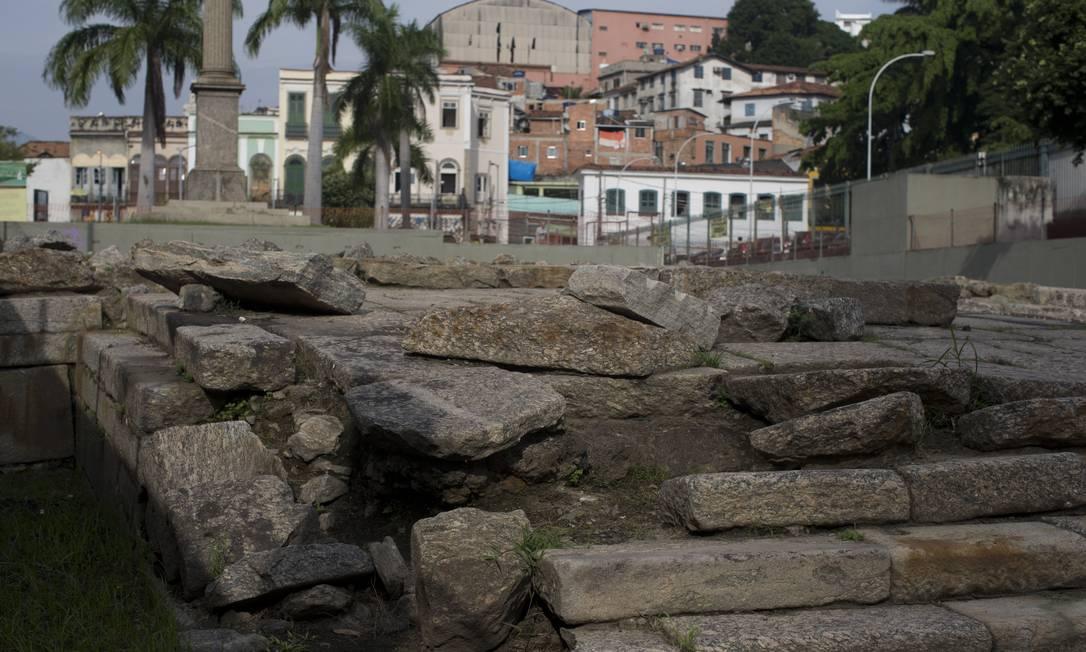 Localizado na Zona Portuária do Rio, o Cais do Valongo é o único vestígio material da chegada dos africanos escravizados nas Américas e, por isso, foi tombado pela organização Foto: Márcia Foletto / Agência O Globo