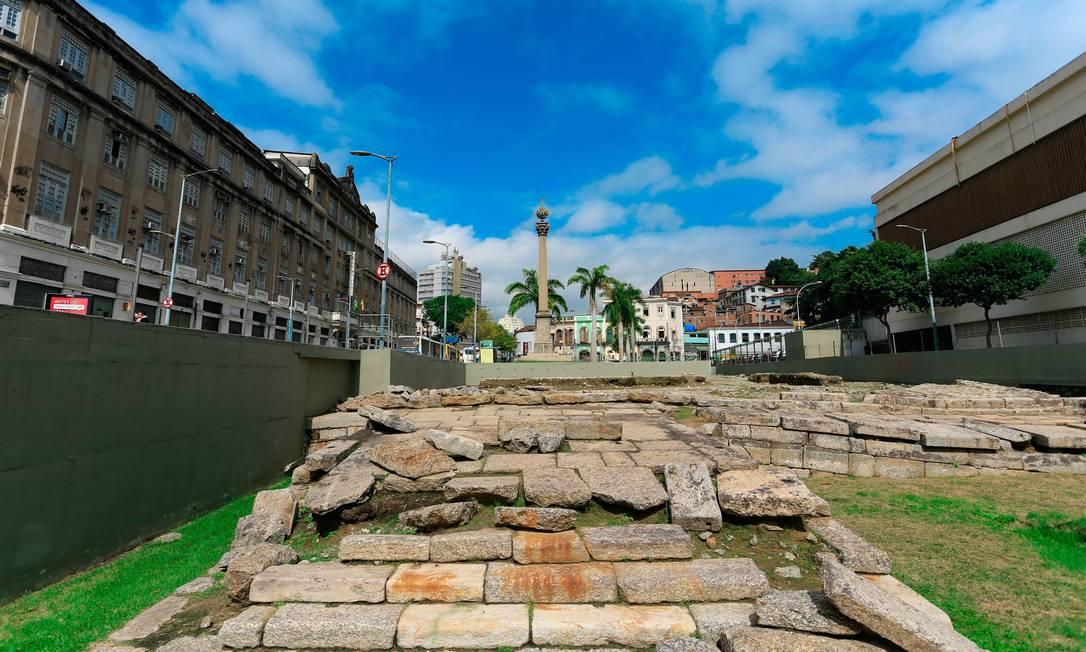 O Cais do Valongo, no Rio de Janeiro, é o mais recente integrante nacional do Patrimônio Munidal da Humanidade. Em 2017, foi tombado pela Unesco Foto: Roberto Moreyra / Agência O Globo