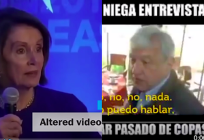 Vídeos adulterados foram usados nos EUA e México Foto: reprodução