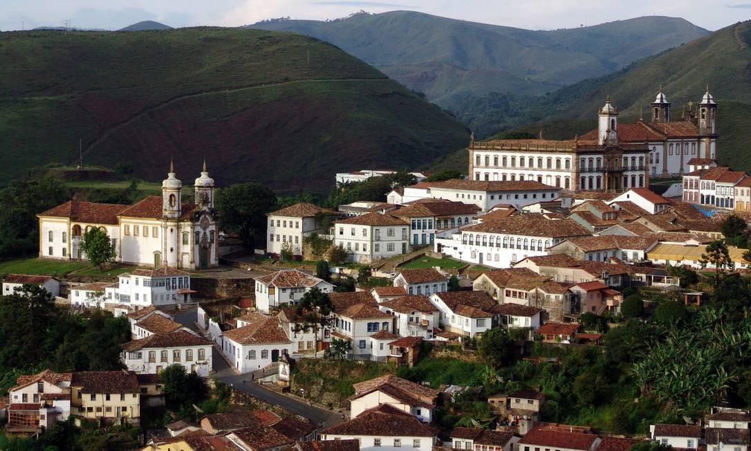 A Cidade Histórica de Ouro Preto, em Minas Gerais, escolhida pela Organização das Nações Unidas para a Educação, a Ciência e a Cultura (Unesco) como Patrimônio Mundial da Humanidade em 1980. É a primeira cidade brasileira tombada pela Unesco Foto: Eduardo Tropia / Divulgação