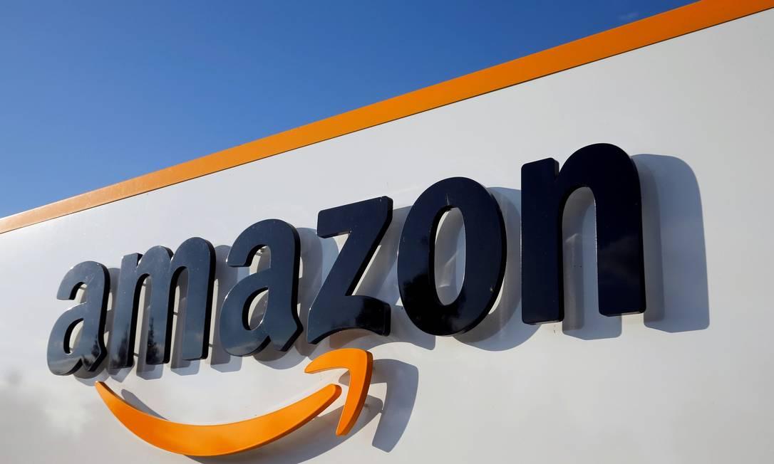 Logo da Amazon: gigante do comércio eletrônico expande operações de logística na região de São Paulo Foto: Pascal Rossignol / REUTERS