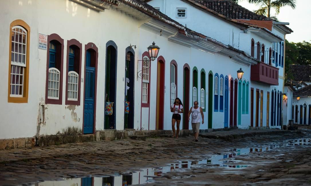 Colorido e beleza do Centro Histórico de Paraty foram apostas da candidatura Foto: Brenno Carvalho / Agência O Globo