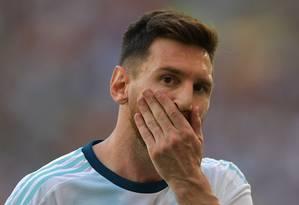Argentina está há 26 anos sem levantar um troféu Foto: CARL DE SOUZA / AFP