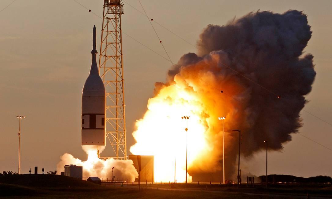 Teste de emergência da cápsula Orion foi realizado no Cabo Canaveral Foto: THOM BAUR / REUTERS