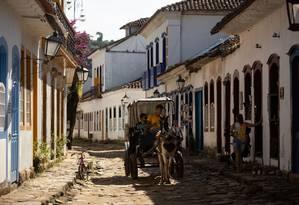 Charrete no Centro Histórico de Paraty: cidade pode virar Patrimônio Mundial nos próximos dias Foto: Brenno Carvalho / Agência O Globo