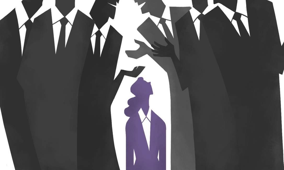 Minoria na política, elas também recebem menos dinheiro que os homens para fazer campanha Foto: Arte de Nina Millen