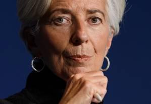 Christine Lagarde: novo perfil no BCE. Foto: FABRICE COFFRINI / AFP