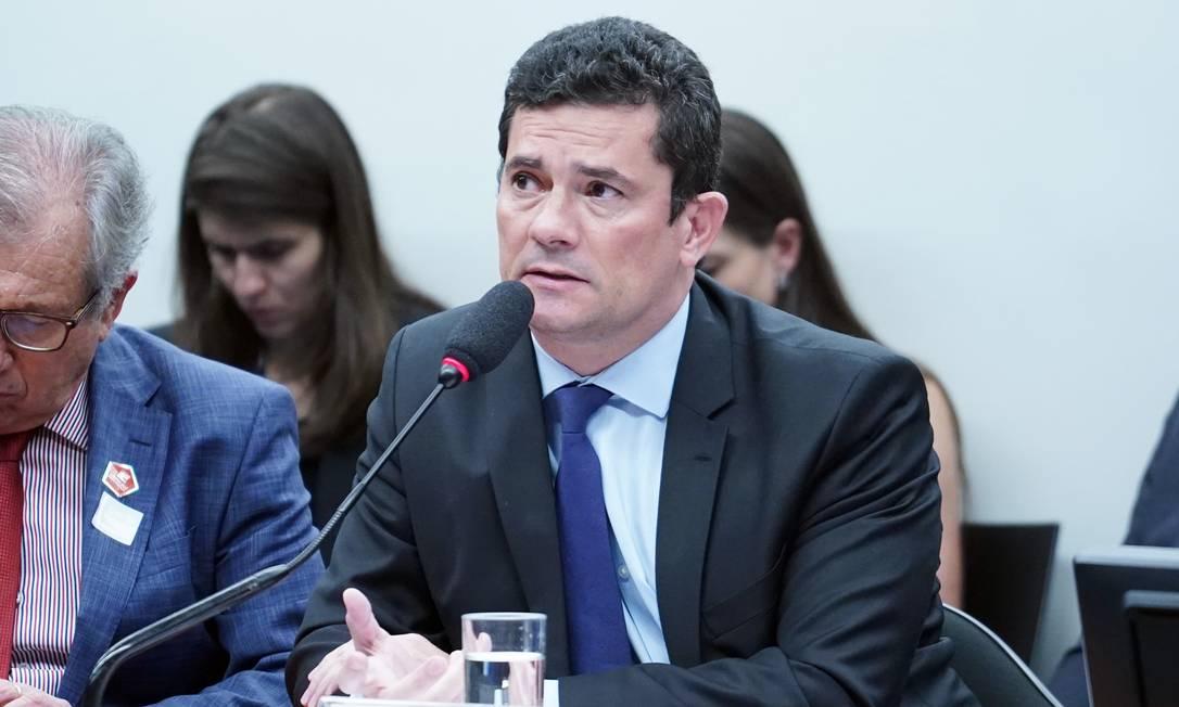 Ministro da Justiça, Sergio Moro fala à CCJ do Senado sobre conversas vazadas sobre Lava-Jato Foto: Pablo Valadares / Câmara dos Deputados