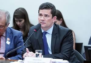 A nota do órgão do MPF cita as as conversas entre Moro e procuradores da Lava-jato Foto: Pablo Valadares / Câmara dos Deputados
