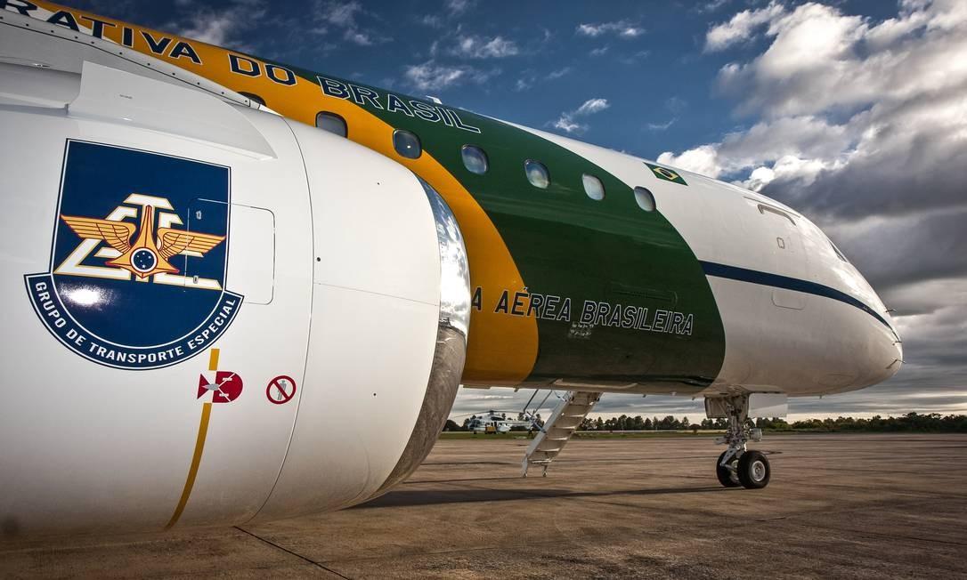 Avião da FAB que transportou 39 quilos de cocaína, encontrados na bagagem do segundo-sargento Rodrigues Foto: Johnson Barros/18-02-2011