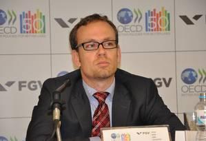 Jens Arnold economista sênior para o Brasil e Argentina na Organização para a Cooperação e Desenvolvimento Econômico (OCDE) Foto: Divulgação
