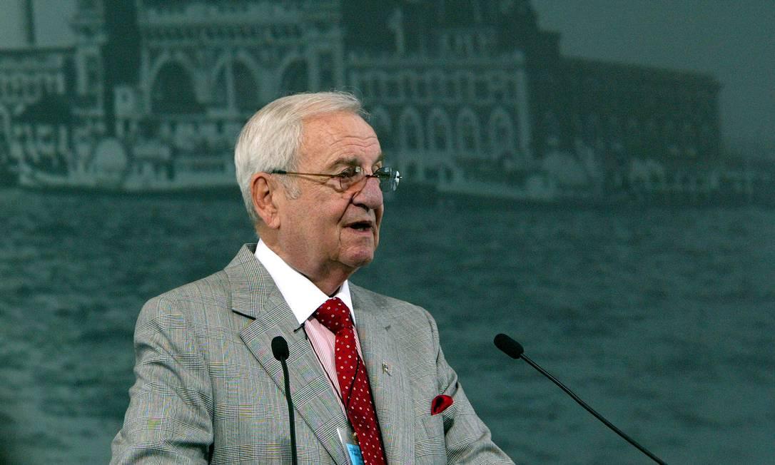 Lee Iacocca, ex-presidente da Chrysler, que morreu aos 94 anos Foto: PAUL HAWTHORNE / AFP