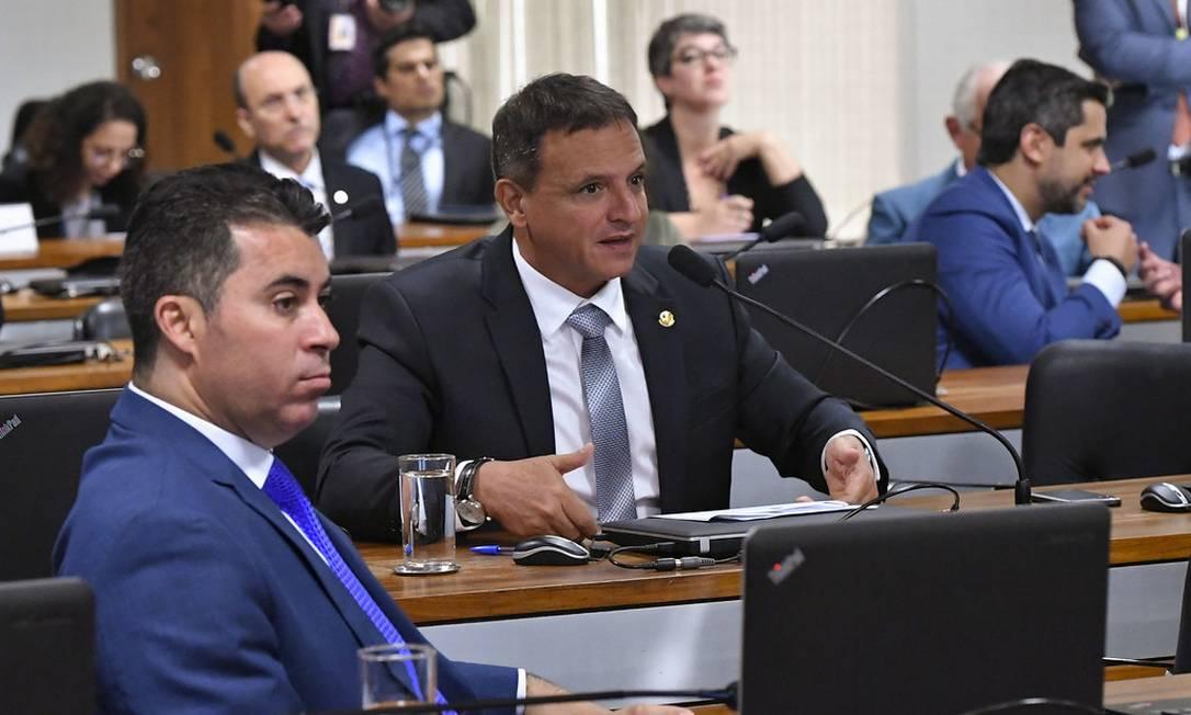 Senador Marcio Bittar durante sessão da Comissão de Constituição, Justiça e Cidadania (CCJ) da Casa Foto: Geraldo Magela / Agência Senado
