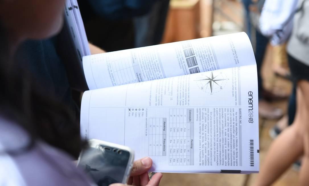 Enem é a principal via de acesso ao ensino superior do país Foto: Terceiro / Agência O Globo