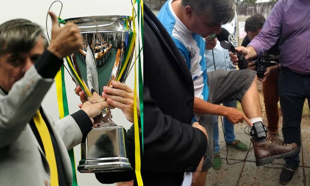 Deputado Boca Aberta usou tornozeleira eletrônica em 2018 Foto: Jorge William/Agência O Globo e Josué Azevedo/RPC