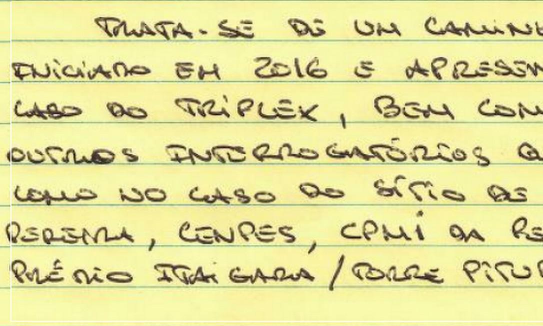 Depoimento de Leo Pinheiro foi utilizado pelo então juiz da Lava-Jato, Sergio Moro, para condenar Lula no caso do tríplex em julho de 2017 Foto: Reprodução