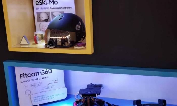 Câmeras da Fit360 permitem uma visão de 360 graus Foto: Bruno Rosa