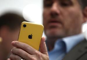Nesta quinta-feira, donos de iPhones, iPads e outros dispositivos Apple não conseguiram usar todos os serviços do iCloud Foto: JUSTIN SULLIVAN / AFP
