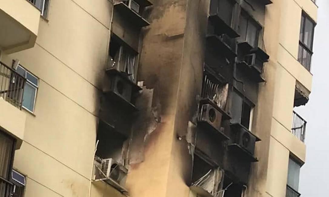 Diversos apartamentos foram atingidos pelas chamas Foto: Reprodução Redes sociais