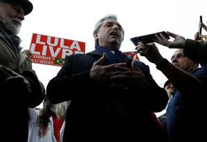Alberto Fernández, que lidera chapa na qual Cristina Kirchner é candidata a vice, criticou acordo UE-Mercosul depois de visitar Lula na prisão Foto: RODOLFO BUHRER / REUTERS