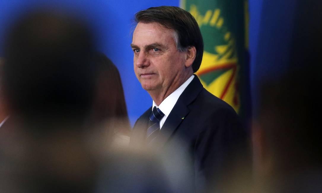 O presidente Jair Bolsonaro defendeu o trabalho infantil, mas disse que não propõe descriminalização para não ser 'massacrado'. A declaração foi feita na noite desta quinta-feira em live no facebook Foto: Jorge William / Agência O Globo