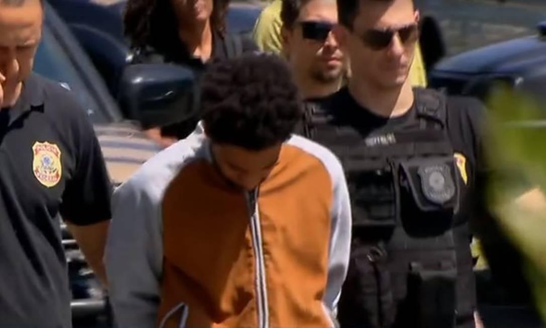 O professor, quando foi preso em SP, em 2018 Foto: TV Globo / Reprodução