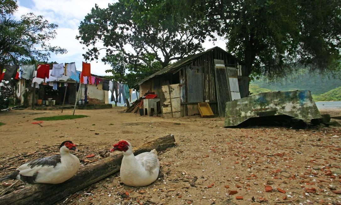 Comunidade de caiçaras do Saco do Mamanguà, próximo a Paraty Foto: André Coelho / Agência O Globo