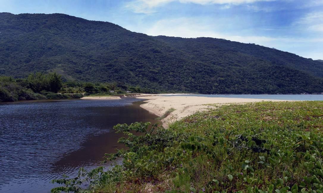 Comunidade caiçara, na Praia Grande, em Paraty Foto: Gabriel de Paiva / Agência O Globo