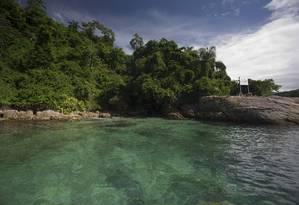 A Ilha do Algodão, na Estação Tamoios Foto: Márcia Foletto / Agência O Globo