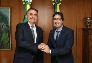 Fábio George Cruz da Nóbrega entregou a lista tríplice para Bolsonaro no início de julho Foto: Marcos Corrêa / Presidência