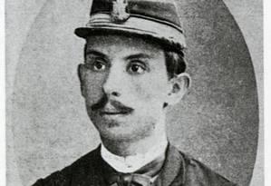 Euclides da Cunha em 1891, aos 25 anos, quando ingressou na Escola Superior de Guerra Foto: Reprodução